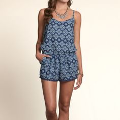 Bettys Point Dume Romper | Bettys #hollister House Collection | HollisterCo.com-- wear with a cardigan