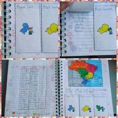 Atividade aplicada nessa semana - trabalhando as 5 regiões brasileiras. Primeiro os alunos coloriram as regiões no mapa. Depois, co...