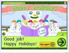 """Ten little Snowmen"" (Juego para componer el muñeco de nieve) Good Job, Ten, I Am Happy, Happy Holidays, Snowman, Family Guy, Play, Reading, Character"