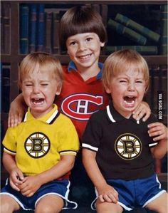 Bruins Go Habs Go. Oh yeah baby! Montreal Canadiens, Mtl Canadiens, Cute Funny Pics, Funny Images, Funny Stuff, Stupid Funny, Hockey Mom, Hockey Teams, Flannel