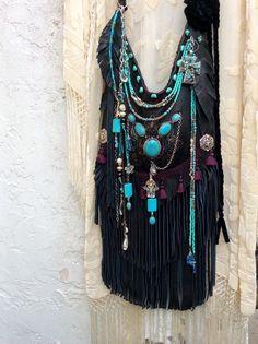 Handmade, Hand Painted Fringe Boho Shoulder Bag, Ibiza Coachella Festival Style    eBay