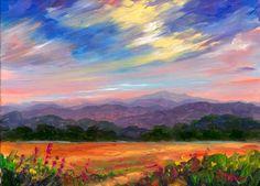 Small Mountain Oil Painting · Western North Carolina Landscape Art ...
