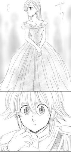 Manga Anime, Nghệ Thuật Anime, Bảy Mối Tội Đầu, Bản Vẽ, Cặp