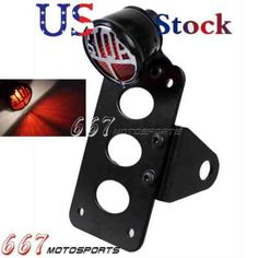 30110 motorcycle-parts Black Side Mount Number License Plate Bracket Stop Brake Tail Light For Harley  BUY IT NOW ONLY  $32.85 Black Side Mount Number License Plate Bracket Stop Brake Tail Light For Harley...