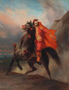 Ottoman Warrior on Horseback by Alfred de Dreux | Art Posters & Prints