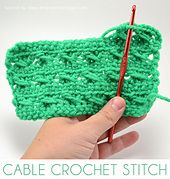 Cable Crochet Stitch Tutorial pattern by Allison Murray