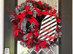 Deluxe Christmas Wreath, Christmas Decoration, Holiday Wreaths, Front door Wreaths, Red and Black Christmas Wreath, Ready to Ship