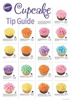 cupcake tip guide - decorating cupcakes - . - New Popular Pins dekorieren cupcake tip guide - decorating cupcakes - . - New Popular Pins Cupcake Decorating Techniques, Cake Decorating Piping, Cookie Decorating, Cupcake Icing Techniques, Decorating Tips For Cakes, Beginner Cake Decorating, Cake Piping Techniques, Easy Cupcake Decorating, Decorating Ideas
