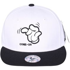 Disney Mickey Mouse's Hand Embroidery New Era Style Snapback Hat... (24 AUD) ❤ liked on Polyvore featuring accessories, hats, disney hats, mickey mouse hat, embroidered baseball caps, embroidered ball caps and baseball cap