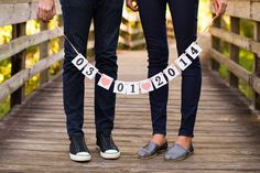 LOVE! Very cute idea for our engagement photo shoot!
