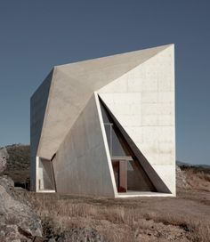 Valleacerón Chapel, Spain. The geometric shape of the building relies on the sunlight which will create different shadows according to the time of the day