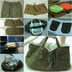DIY Refashion Old Shorts into a Stylish Tote Bag