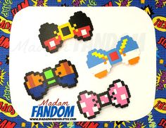 8bit, Disney Hair Bows // Choose Your Bow! Mickey, Goofy, Donald, or Minnie