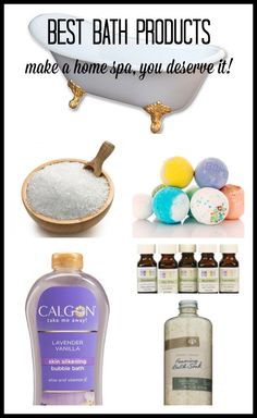 Best Bath Products (Make A Home Spa, You Deserve It!)