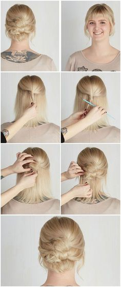 updo ideas for prom, wedding etc for those with short hair cuts