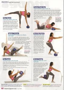 Some cool exercises to use with a small ball I pinned this image from Brooklynfitchick.com who found it in Fitness magazine. Come see what else I got for you at http://fitandfirmsecrets.com