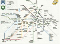 "Historical Maps: West and East Berlin, 1984 Further to my previous posts, here's a couple more maps from East and West Berlin, this time from 1984. Both are much better-designed than the examples shown earlier, and West Berlin has taken on the ""U-number"" line names that we know so well today. No further comments as the basic principles still hold true for each map - presented for comparison and completeness only."