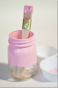 Painted Mason Jars: HOW TO
