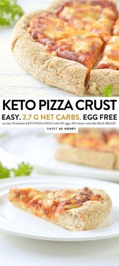 Low carb pizza crust - Keto Vegan - Sweetashoney cup coconut flour g) cup almond flour g) 3 tablespoons ground psyllium husk g) teaspoon salt teaspoon garlic pow Side Dish Recipes, Bread Recipes, Low Carb Recipes, Healthy Recipes, Vegan Keto Recipes, Kale Recipes, Pudding Recipes, Diet Recipes, Lowcarb Pizza