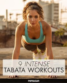 One of our favorite ways to HIIT is Tabata, a type of workout that combines 20 seconds of intense bursts of workouts with 10 seconds of rest in four-minute rounds. Killer Workouts, Tabata Workouts, Cardio Routine, Hiit, Tabata Fitness, Burn Calories Fast, Workout Posters, High Intensity Interval Training, Intense Workout