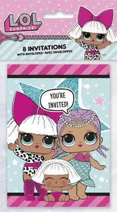 LOL Surprise, Invitasjoner, 8stk