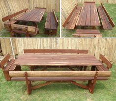 Table with benches.
