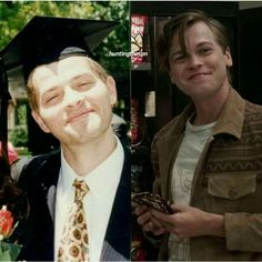 Misha Collins when he was younger versus Alexander Calvert. Seriously, that is some badass casting on the show's part.