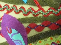Ric Rac with Stitches & French Knots as embellishment