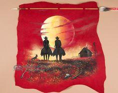 Western Navajo Indian Arrow Wall Hanging -Sunset (ph79)