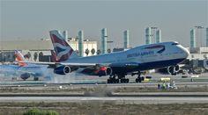British Airways 747 at LAX