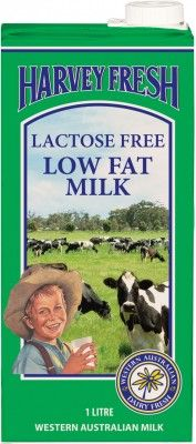 Harvey Fresh Lactose Free Low Fat Milk 1L Long Life
