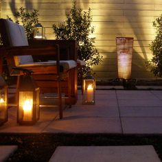 Candle Power! From a Houston patio. (Houzz | Kirkpatrick Design)