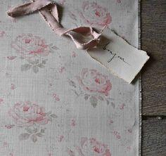 Peony /& Sage Lavender Heart  LAKSHMI Rain Linen Ribbon Mothers Day