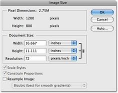 The Image Size dialog box in Photoshop. Image © 2009 Photoshop Essentials.com.