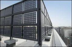 Bifacial solar panels as screen