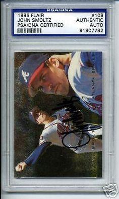 JOHN-SMOLTZ-SIGNED-AUTO-1995-FLAIR-PSA-DNA-SLABBED #johnsmoltz #smoltz #signedcard #autograph #1995