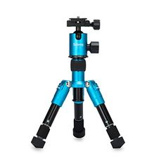 Introducing Selens SETmini 182in Portable Camera Tripod with Ballhead and Protect Bag for Canon Nikon Sony Samsung Panasonic Olympuskodak Fuji Cameras and Camcorders Blue. Great product and follow us for more updates!