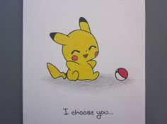 Pikachu, I choose you! Pokemon Go, Cute Pokemon, Maila, Cute Pikachu, My Sun And Stars, Friendship Cards, Anime, Art Plastique, Cute Drawings