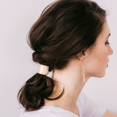 Mini Orbital Hair Pin for Wavy + Straight Hair — Favor Jewelry Modern Hairstyles, Hairstyles For Round Faces, Trending Hairstyles, Straight Hairstyles, Hairstyles 2016, Short Brown Hair, Short Straight Hair, Long Curly, Thin Hair