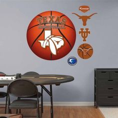 University of Texas Basketball Logo, Multicolor
