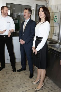 Crown Prince Frederik And Crown Princess Mary Of Denmark visti the distilery of the Holsten brewery on May 20, 2015 in Hamburg, Germany.