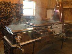 Making Maple Syrup. Sugar shack. Evaporator. KondysarFarms@gmail.com