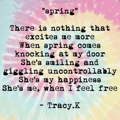 #Spring #Poetry #Happiness