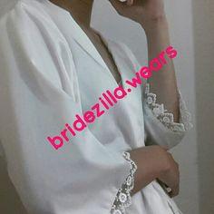 White satin kimono with laces #jualkimono #jualsatinkimono #jualsash #jualsatinsash #jualbridekimono #jualbridetobesash #jualbride #jualbridekit #jualselempangkain #jualbridekimonojakarta #bridekimonojakarta
