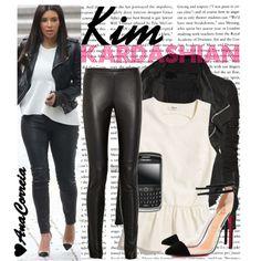 1248. Kim Kardashian, created by anacorreia on Polyvore