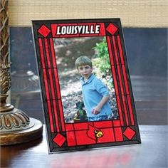 Louisville Cardinals Picture Frame Vertical Art Glass Frame
