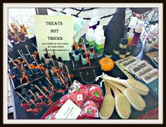"Anjou Spa in Bend, OR displayed spa treats not tricks in their ""Howl-o-ween Boutique"". www.anjouspa.com"
