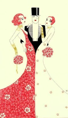 Artist - Svetlana Dorosheva modern print done in old Art Deco style. Art Deco Posters, Vintage Posters, Vintage Art, Art Nouveau, Art Quotidien, Vintage Magazine, Art Deco Illustration, Henri Matisse, French Art