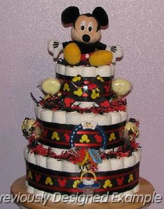 MickeyMouse-Diaper-Cake (2).JPG - Mickey Mouse Diaper Cake