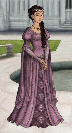 Princess Scarlett Eamon ~ by chessur1841 ~ created using the LotR Hobbit doll maker | DollDivine.com